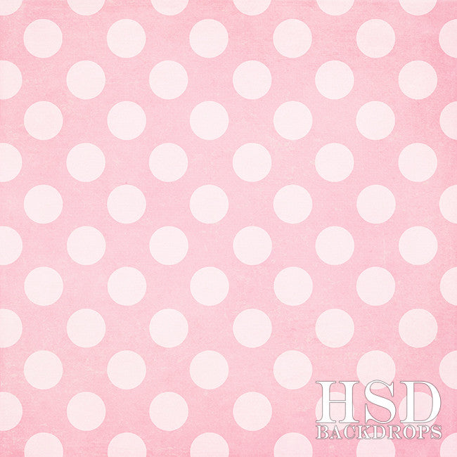 Photography Backdrop Background | Pink Polka Dots