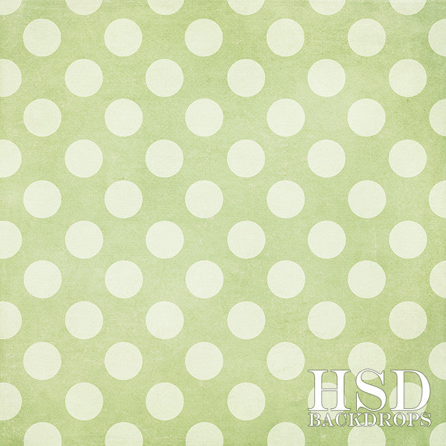 Green Polka Dots - HSD Photography Backdrops
