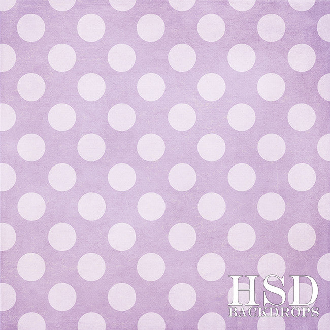 Purple Polka Dots - HSD Photography Backdrops