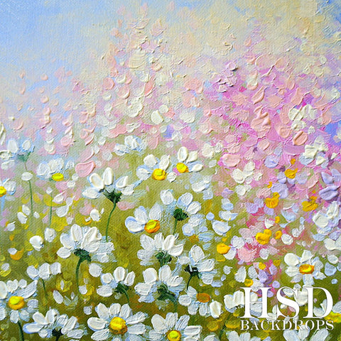 Spring Photography Backdrop | Wildflower
