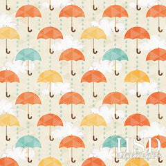 Spring Photography Backdrop | Umbrellas