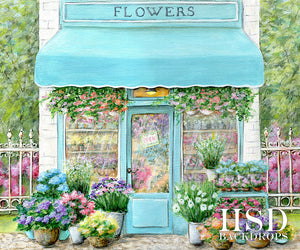 Flower Shop photography backdrop & background