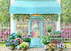 Spring Photography Backdrop | Flower Shop