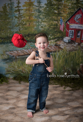 Spring Photography Backdrop | Gone Fishin'