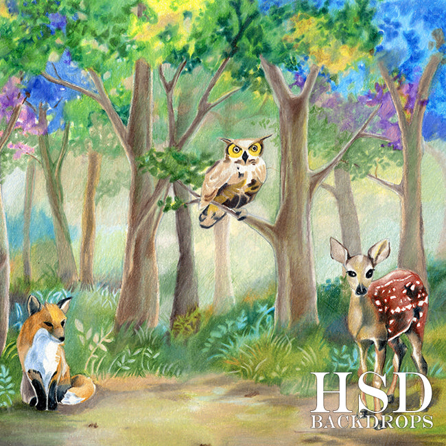 Woodland Critters - HSD Photography Backdrops