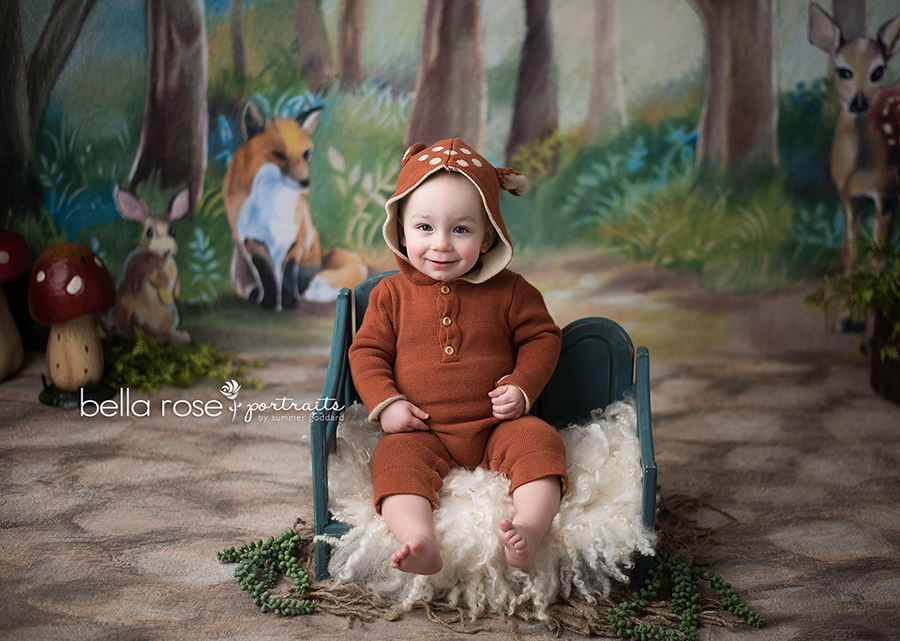 Woodland Critters photography backdrop & background