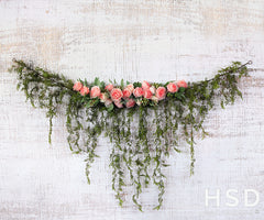 Spring Photography Backdrop | Rose Garland