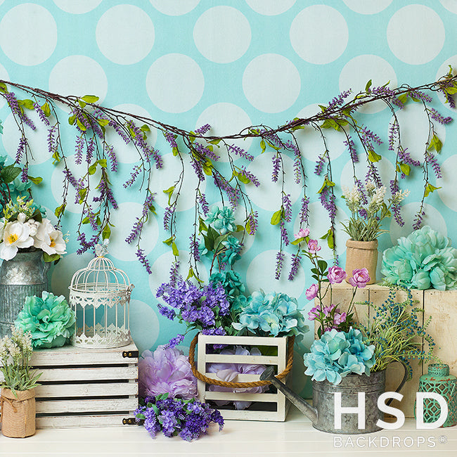 Spring Fling photography backdrop & background