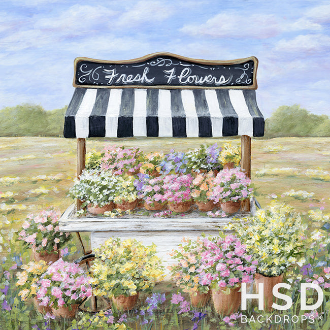 Flower Cart photography backdrop & background