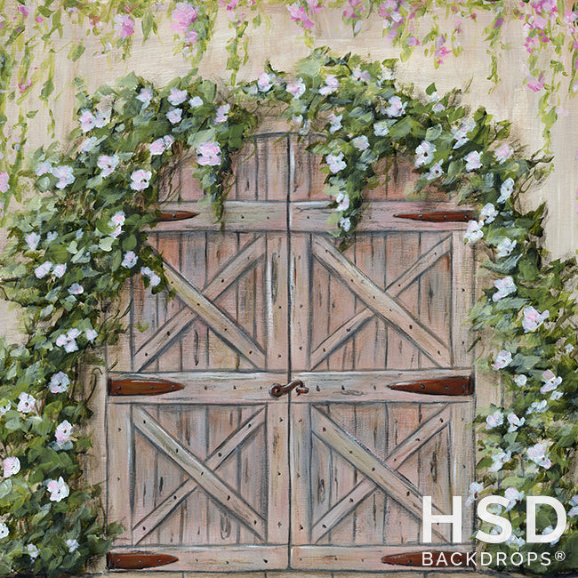 Secret Garden Door photography backdrop & background