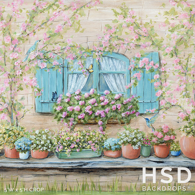 Spring Window photography backdrop & background