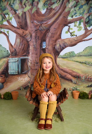 Honey Bear's Tree House photography backdrop & background