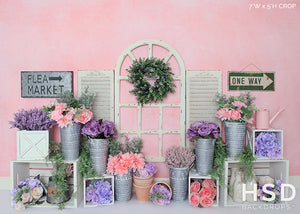Spring Flower Market - HSD Photography Backdrops