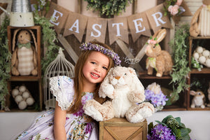 Cute as a Bunny photography backdrop & background