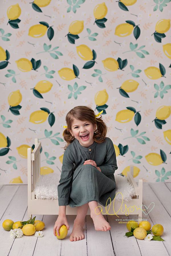 Citrus & Mint photography backdrop & background