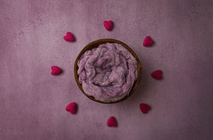 Surrounded By Love Purple | Digital photography backdrop & background