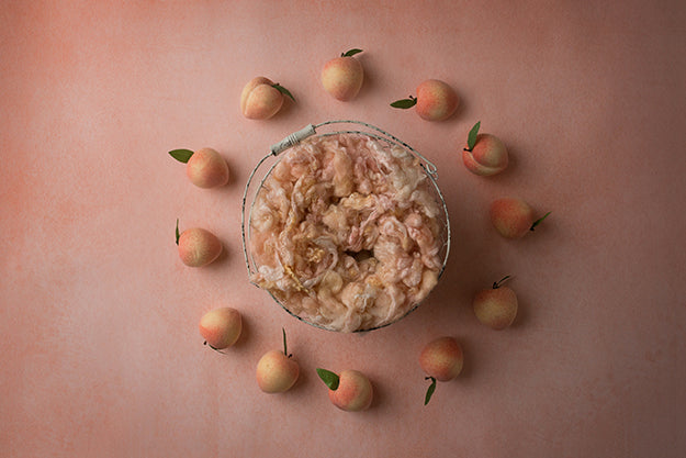 Sweet Peach Coll. | Candied Peach | Digital photography backdrop & background