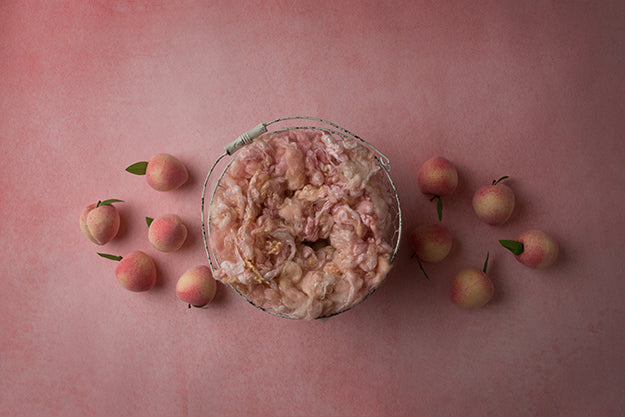 Sweet Peach Coll. | Peaches And Cream | Digital photography backdrop & background