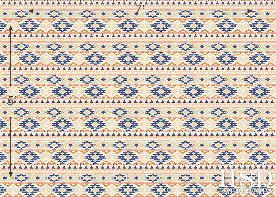 Aztec Pattern photography backdrop & background