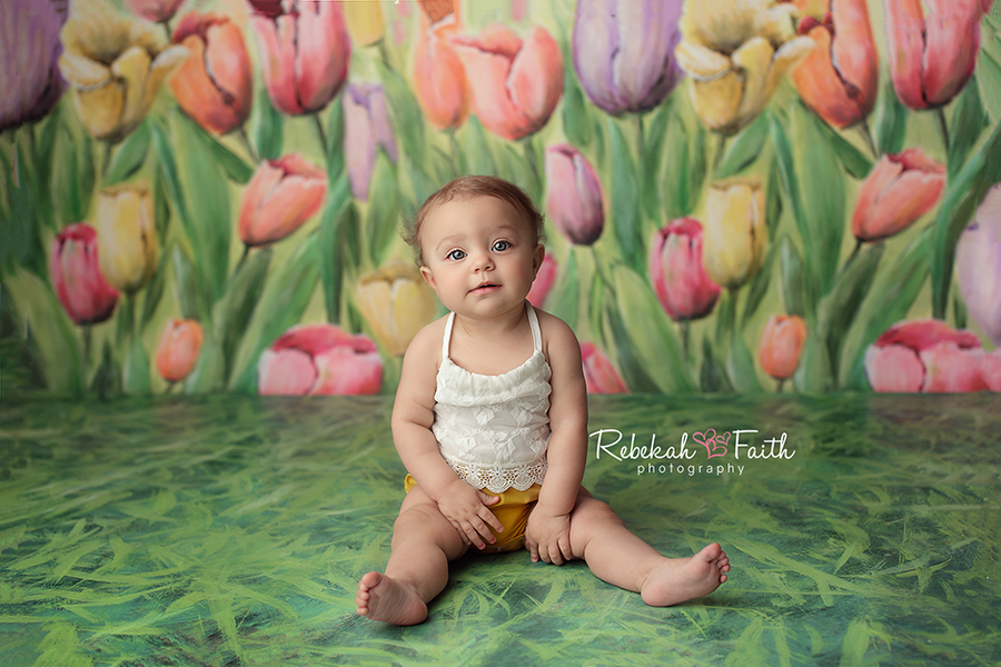 Photography Backdrop Background | Tulip Field - HSD Photography Backdrops