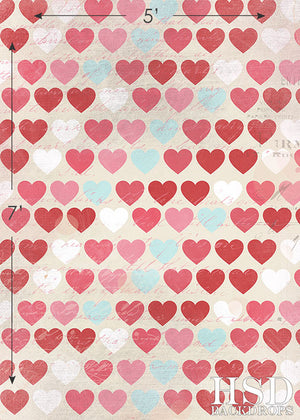 Hearts photography backdrop & background