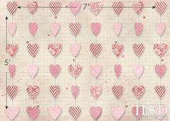 Valentine's Day Photography Backdrop | Hanging Hearts