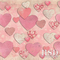 Valentine's Day Photography Backdrop | Paper Hearts