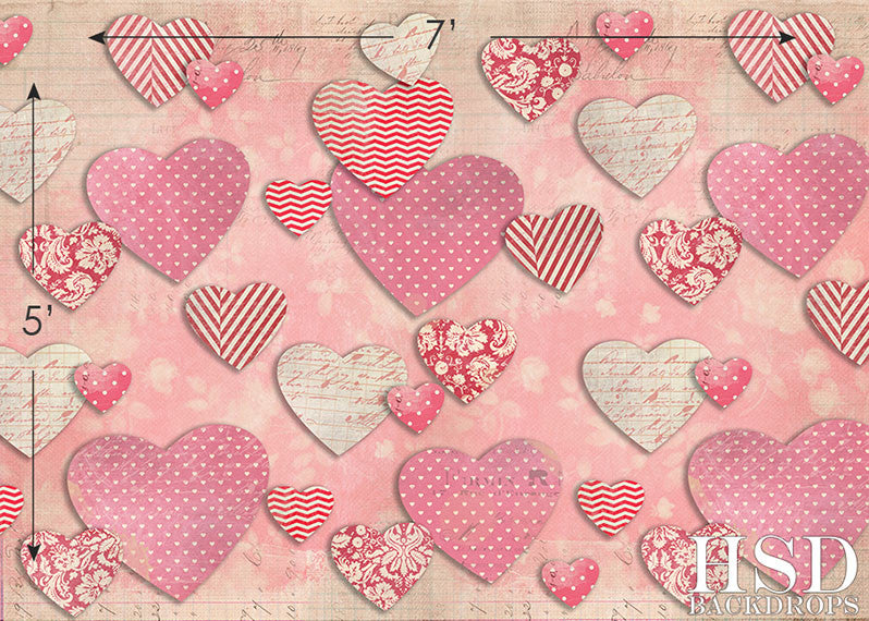 Paper Hearts - HSD Photography Backdrops