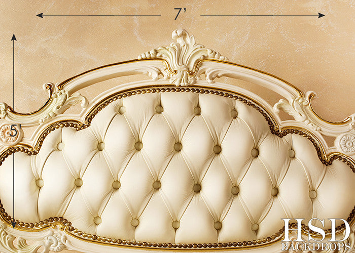 Luxury Bed Headboard photography backdrop & background