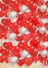 Valentine's Day Photography Backdrop | Heart Balloons