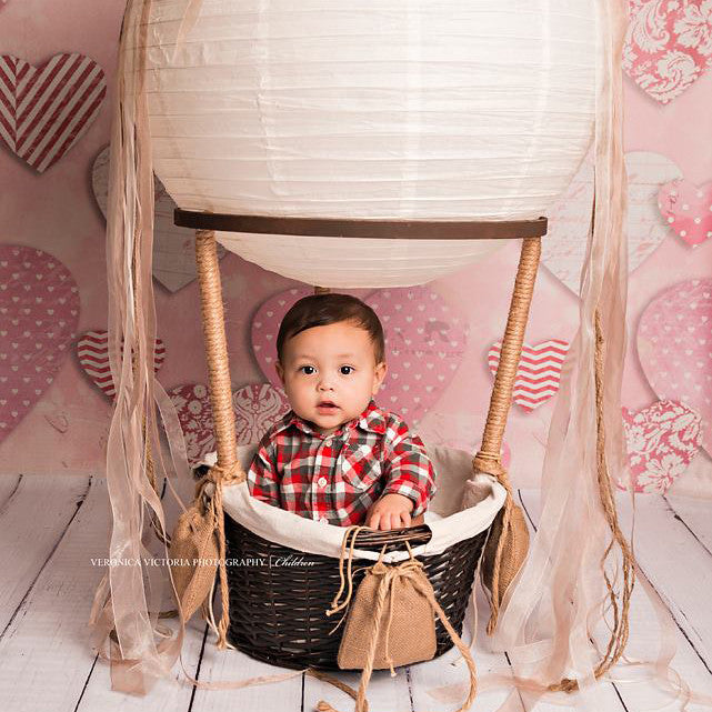 Paper Hearts photography backdrop & background