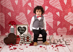 Photography Backdrop Background | Doodle Hearts