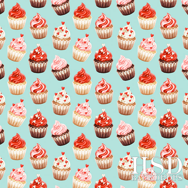 Valentine's Day Photography Backdrop | Sweet As A Cupcake