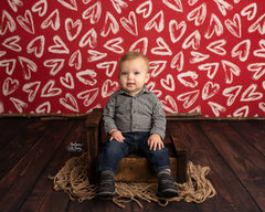 Valentine's Photography Backdrop | Hello Sweetheart