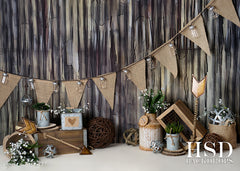 Valentine's Photography Backdrop | Rustic Love