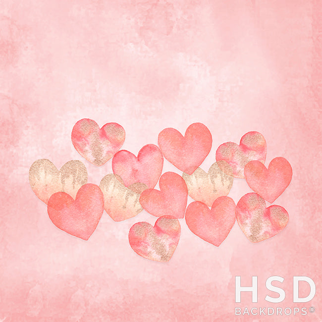 Whispering Hearts photography backdrop & background