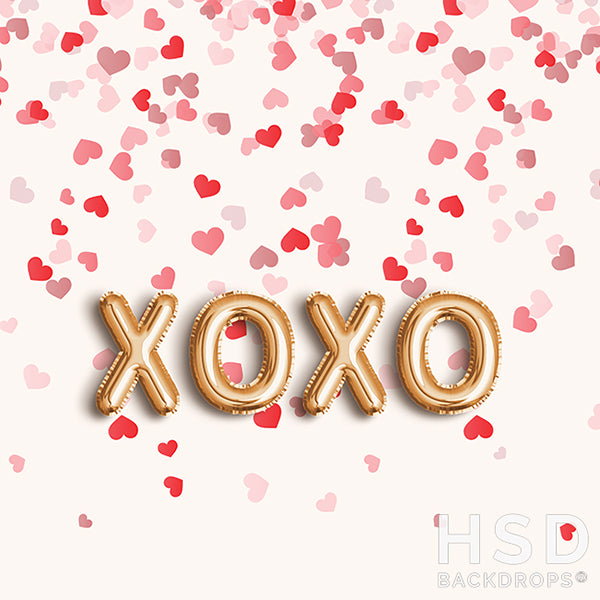 XOXO and Hearts photography backdrop & background