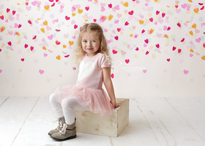 Confetti Heart Drop photography backdrop & background