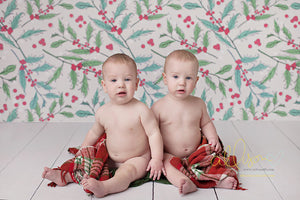 Berry Christmas photography backdrop & background