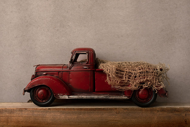 Digital Backdrop | Little Red Truck Coll. | Vintage Truck