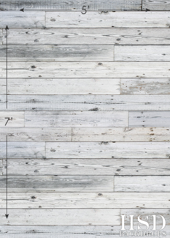 Photography Backdrop Floor Drop | Gray Knotted Wood