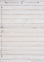 Photography Backdrop Floor Drop | Faded White Wood