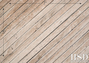 Peeling Planks Floor Drop photography backdrop & background