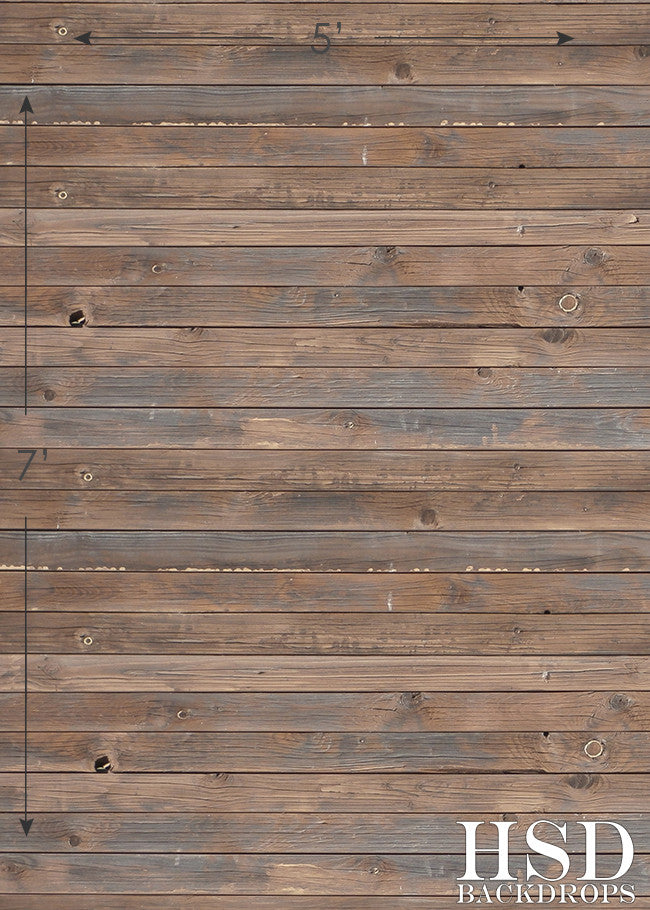 Dark Stained Panels Floor Drop photography backdrop & background