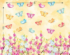 Photography Backdrops | Butterfly Floral