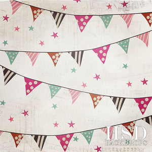 Birthday Banners Girl - HSD Photography Backdrops
