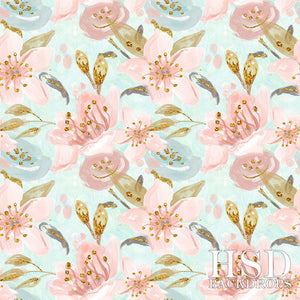 Lily Floral photography backdrop & background