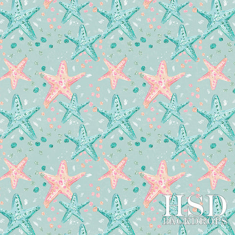 Photography Backdrop | Starfish Blue Background