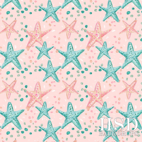 Photography Backdrop | Starfish Pink Background