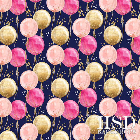 Photography Backdrop Background | Birthday Balloons Girl
